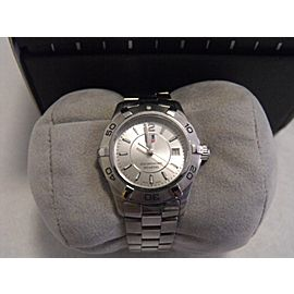 AUTHENTIC TAG HEUER WOMENS AQUARACER WAF1412.BA0812 SWISS QUARTZ STEEL WATCH