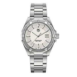 TAG HEUER WAY1111.BA0928 AQUARACER SWISS QUARTZ LUXURY SILVER WATCH