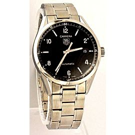 TAG HEUER CARRERA WV211B.BA0787 AUTOMATIC MENS BLACK ARABIC DIAL WATCH