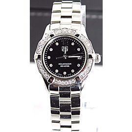 AUTHENTIC TAG HEUER AQUARACER WAF141D.BA0813 DIAMOND BEZEL DIAL STEEL LADY WATCH