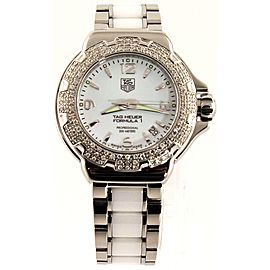 AUTHENTIC TAG HEUER FORMULA 1 WAC1215.BA0861 DIAMOND LADIES SWISS CERAMIC WATCH