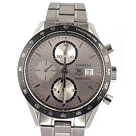 AUTHENTIC TAG HEUER CARRERA CV2011.BA0786 CHRONOGRAPH AUTOMATIC STEEL WATCH