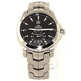 TAG HEUER LINK WJF211A.BA0570 AUTOMATIC CALIBRE 6 MEN'S STEEL BLACK WATCH