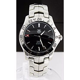 TAG HEUER LINK WJF2116.BA0570 DUAL TIME BLACK AUTOMATIC MENS GMT WATCH