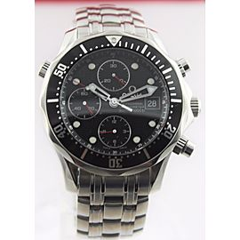 OMEGA SEAMASTER 213.30.42.40.01.001 LARGE BLACK CHRONOGRAPH AUTO WATCH