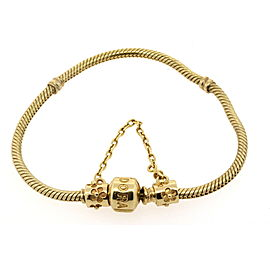 Pandora 14K Yellow Gold Bracelet Barrel 550702 No Safety Chain Included