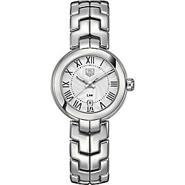 TAG HEUER LADIES LINK WAT1416.BA0954 ROMAN 29MM SILVER WRIST WATCH