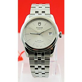 TUDOR GLAMOUR 55000 AUTOMATIC 36MM MENS SILVER LUXURY DATE STEEL WATCH
