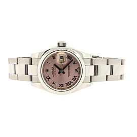 Ladies Rolex Datejust 179160 26mm 2013 Salmon Roman Watch