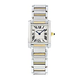 Cartier Tank Francaise 2384 Two Tone Small Ladies Watch