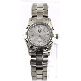 ORIGINAL TAG HEUER WOMENS AQUARACER WAF1412.BA0823 SWISS QUARTZ SILVER WATCH