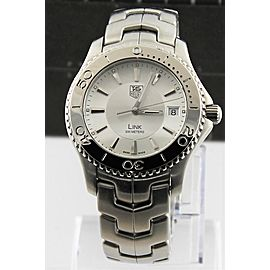 ORIGINAL TAG HEUER MENS LINK WJ1111.BA0570 SWISS QUARTZ MENS LUXURY SILVER WATCH