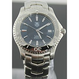TAG HEUER MENS LINK WJ1112.BA0570 BLUE SWISS QUARTZ STEEL WATCH