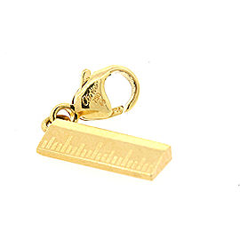 Cartier 18k Gold Ruler Measure Charm Lobster Claw for Bracelet Rare Teacher