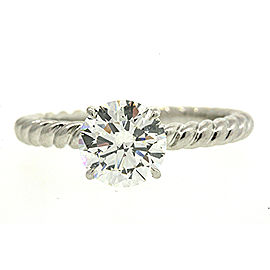 David Yurman Capri Diamond Engagement Ring Platinum 1.31 GIA I SI1 sz 5.5