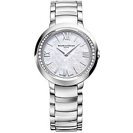 BAUME & MERCIER PROMSESSE 10160 SWISS QUARTZ DIAMOND PEARL LADIES WATCH