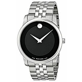 MOVADO MUSEUM 0606899 BLACK MUSEUM SWISS QUARTZ MENS STEEL WATCH