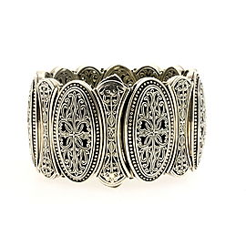 Konstantino Phaedra Bracelet Sterling Silver Etched Filigree Large Wide & Pouch