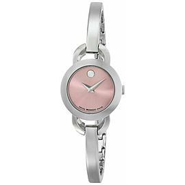 MOVADO RONDIRO 0606797 LADIES PINK DIAL SWISS QUARTZ 22MM WATCH