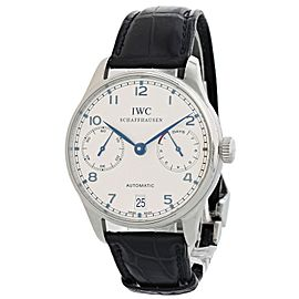 IWC Portuguese IW500107 7 Day Reserve Mens Watch Box Papers