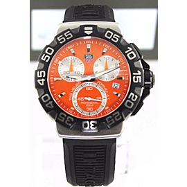 TAG HEUER FORMULA 1 CAH1113.BT0714 QUARTZ CHRONOGRAPH ORANGE RUBBER WATCH