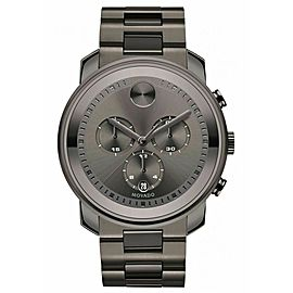 MOVADO MEN'S BOLD METALS 3600277 SWISS QUARTZ CHRONOGRAPH GRAY WATCH