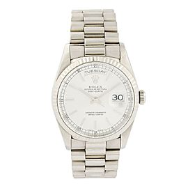 Rolex Day Date 18239 President 18k White Gold Mens Watch Box Papers