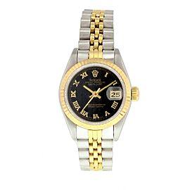Rolex Datejust 69173 Pyramid Dial Ladies Watch