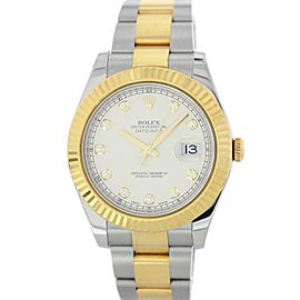 Rolex Datejust 116333 Diamond Dial Men Watch Original Box & Papers
