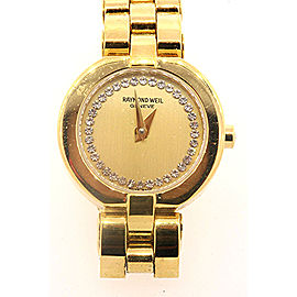 Raymond Weil Allegro Watch 5817 Ladies Gold Tone With Booklet & Card