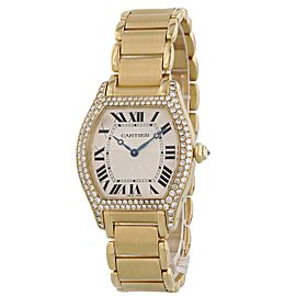 Cartier Tortue Paris 2496 18k Rose Gold Ladies Diamond Watch