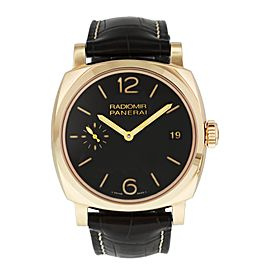 Panerai Radiomir 1940 PAM515 3 Days Oro Rosso Mens Watch Box & Papers