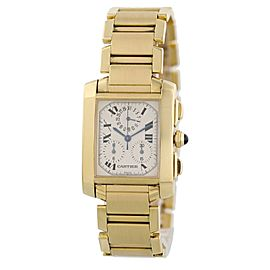 Cartier Tank Francaise W50005R2 Chronograph Mens Watch