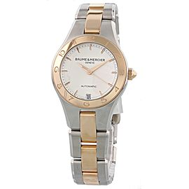 Baume & Mercier Linea 18K Rose Gold & Steel MOA10073 Automatic Ladies Watch