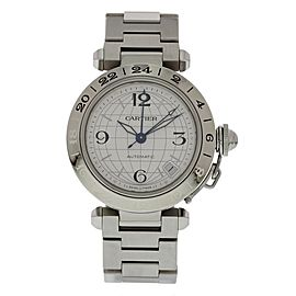 Cartier Pasha 2377 GMT Stainless Steel Automatc