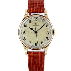Omega 18K Yellow Gold Mens VIntage watch