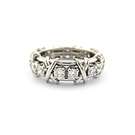 Tiffany & Co Platinum Jean Schlumberger 16 Stone Diamond Ring Size 8 1.14CT