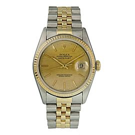 Rolex Datejust 16233 Linen Dial Mens Watch