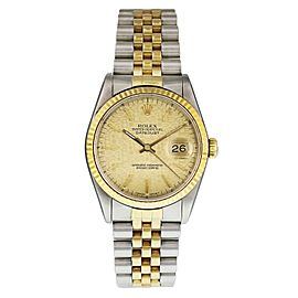 Rolex Datejust 16233 Champagne Jubilee Dial Mens Watch