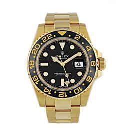 Rolex GMT-Master II 116718 Yellow Gold Box Papers