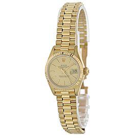 Rolex Datejust President 69178 18k Yellow Gold Ladies Watch
