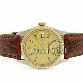 Rolex Datejust 16030 36mmLeather Champagne Women's Automatic