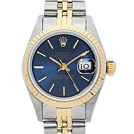Rolex Datejust 6917 26mmSteel & Yellow Gold Blue Index Women's Automatic