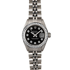 Rolex Datejust 6916 26mmStainless Steel Black Diamond Women's Automatic