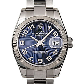 Rolex Datejust 179174 26mmStainless Steel Blue Concentric Arabic Women's