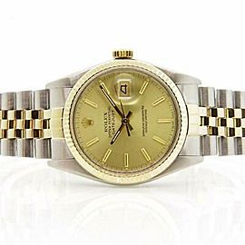 Rolex Datejust 16013 36mmSteel & Yellow Gold Champagne Women's Automatic