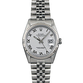 Rolex Datejust 16014 36mmStainless Steel White Roman Women's Automatic
