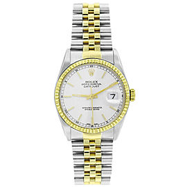 Rolex Datejust 16233 36mmSteel & Yellow Gold White Index Women's Automatic