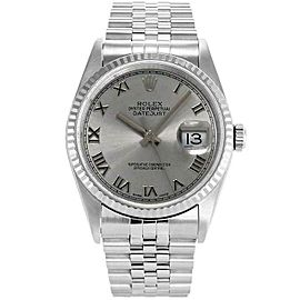 Rolex Datejust 16234 36mmStainless Steel Silver Roman Women's Automatic