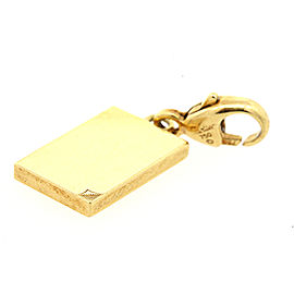 Cartier 18k Gold Book Corner Folded Charm Lobster Claw for Bracelet Rare